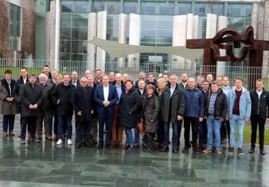 Landwirte auf Einladung von Henning Otte zu agrarpolitischen Gesprächen in Berlin